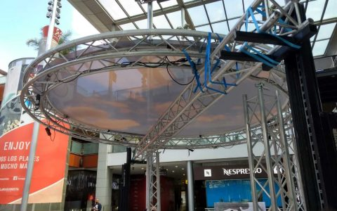 Cercles structure aluminium location sb service
